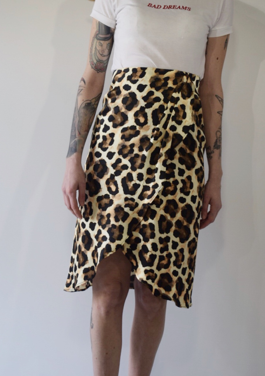 cb87b8f132 Look At You Satin Leopard Skirt - DayDreamers